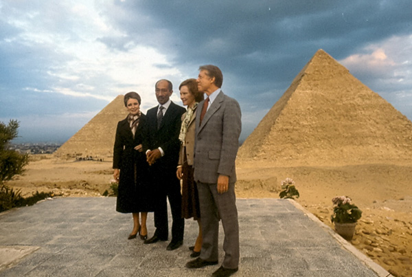 Jihan and Anwar Sadat & Jimmy Carter/Rosalyn Carter