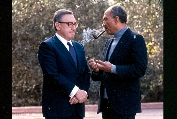Henry Kissenger and Anwar Sadat, Cairo