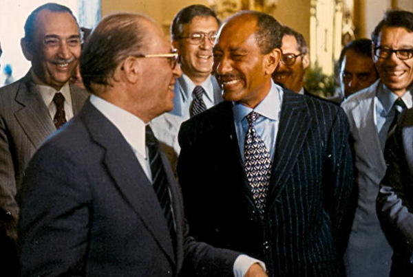Menachim Begin and Anwar Sadat, Egypt