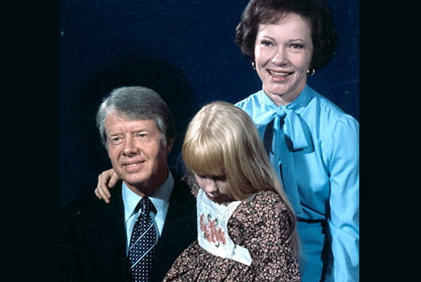 Pres Jimmy Carter, Rosalynn and Amy in White House